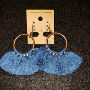 2 for $10 Bohemian Tassle Round Drop Earri…
